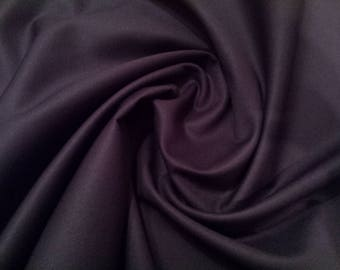 "Navy Blue - Plain 100% Cotton Drill Fabric - Medium Weight - 150cm (59"") Wide Dress Fabric"