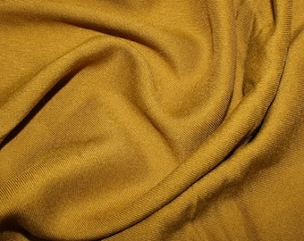 "Mustard - Plain Viscose Twill Dress Fabric Material - per Metre/Half - 55"" (140cm) wide"