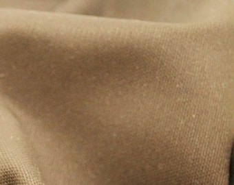 "Flax Colour - 100% Cotton Canvas Fabric - Plain Solid Colour Material - 57"" (146cm) wide"