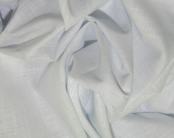 "White - Linen Look 100% Cotton Dress Fabric Material - Metre/Half - 58"" (145cm) wide"