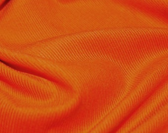 "Orange - Needlecord Cotton Corduroy 21 Wale Fabric Material - 140cm (55"") wide"