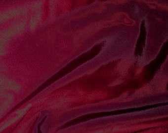 "Wine Red Burgundy Taffeta Fabric Polyester Material 145cm (57"") Wide"