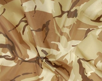"Desert - Camo Ripstop Army Military Camouflage Fabric Material - 59""/150cm wide - Rip-Stop"