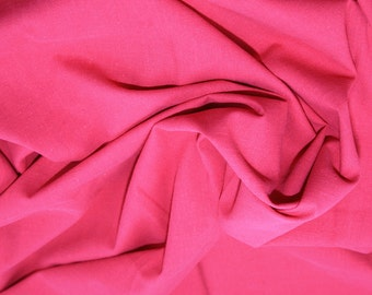"Cerise Pink - Linen Look 100% Cotton Dress Fabric Material - Metre/Half - 58"" (145cm) wide"