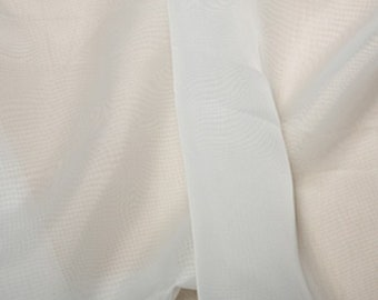 "Ivory Voile Fabric Polyester Material 150cm (59"") Wide Craft/Curtain"