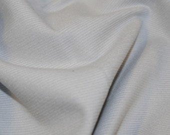 "Pale Grey - Needlecord Cotton Corduroy 21 Wale Fabric Material - 140cm (55"") wide"