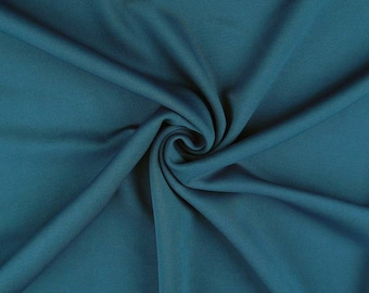 "Teal Blue - Plain Scuba Bodycon Jersey Stretch Fabric Material -160cm (63"") wide"