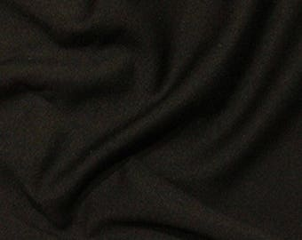 Black - Ponte Roma Soft Knit Jersey Stretch Fabric Polyester Viscose Fabric 150cm Wide