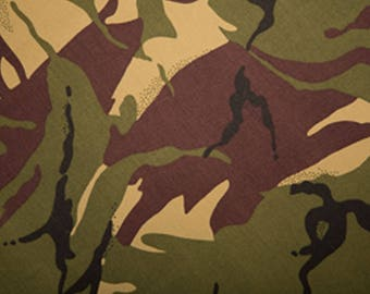 "Jungle - Camo Camouflage 100% Cotton Drill Fabric - Medium Weight - 150cm (59"") Wide Dress Fabric"