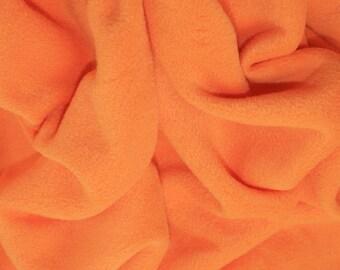 """Orange - Polar Fleece Fabric - Metre/Half - Anti Pil - 59"""" (150cm) wide"""