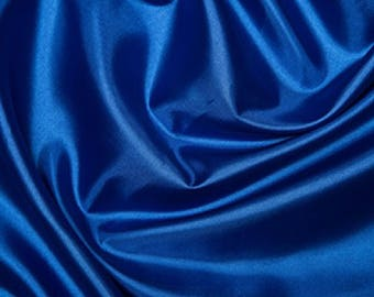 "Royal Blue Habotai 'Silk' Lining Fabric Polyester Material 145cm (57"") Wide"