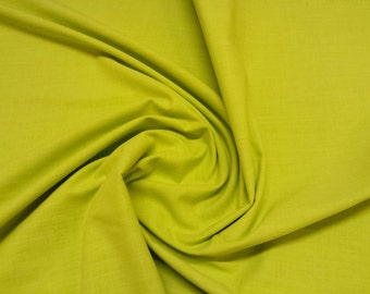 "Green - Linen Look 100% Cotton Dress Fabric Material - Metre/Half - 58"" (145cm) wide"