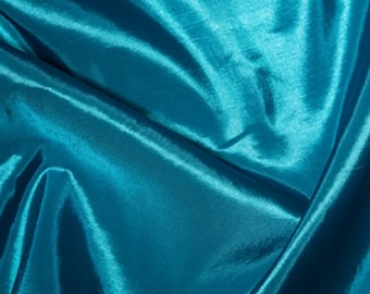 "Turquoise Taffeta Fabric Polyester Material 145cm (57"") Wide"