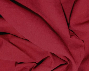 "Wine - Linen Look 100% Cotton Dress Fabric Material - Metre/Half - 58"" (145cm) wide"