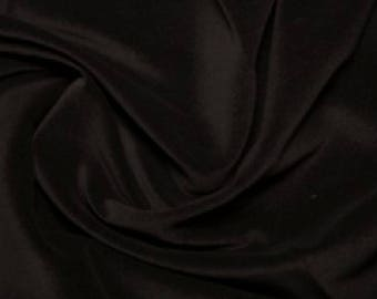 "Black Premium 100% Cotton Velvet Fabric Material - 112cm (44"") wide"