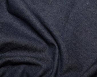 "Dark Colour - Medium Weight Washed 8oz Denim 100% Cotton Fabric Material 145cm (57.5"") Wide"