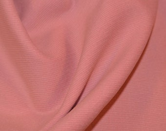 "Pale Pink - Needlecord Cotton Corduroy 21 Wale Fabric Material - 140cm (55"") wide"