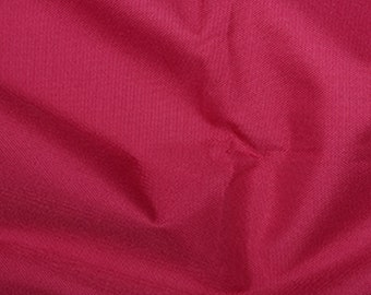 """Cerise Pink - Soft Water Repellent Polyester PU Coated Fabric - Plain Solid Colours - 57"""" (145cm) wide"""