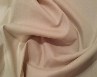 """Beige - 100% Cotton Poplin Dress Fabric Material - Plain Solid Colours - Metre/Half - 44"""" (112cm) wide"""