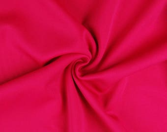 "Cerise Pink - Plain Scuba Bodycon Jersey Stretch Fabric Material -160cm (63"") wide"