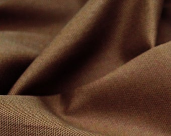 "Taupe - 100% Cotton Canvas Fabric - Plain Solid Colour Material - 57"" (146cm) wide"