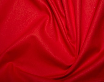 "Red - Extra Wide Cotton Sheeting Fabric 100% Cotton Material - 239cm (94"") wide"