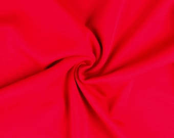 "Red - Plain Scuba Bodycon Jersey Stretch Fabric Material -160cm (63"") wide"