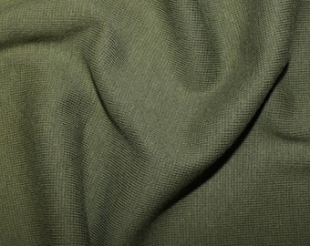 "Forest Green - Stretch Cotton Tube Tubing Fabric Material - 37cm round (14.5"") wide"