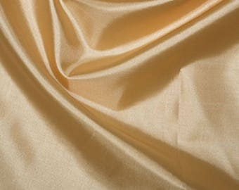 "Gold Habotai 'Silk' Lining Fabric Polyester Material 145cm (57"") Wide"