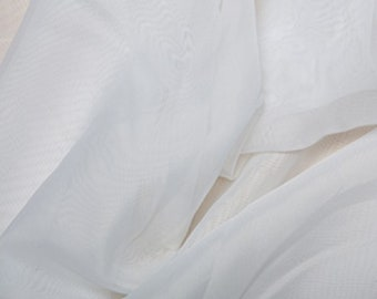 "White Voile Fabric Polyester Material 150cm (59"") Wide Craft/Curtain"