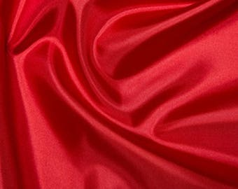 "Red Habotai 'Silk' Lining Fabric Polyester Material 145cm (57"") Wide"