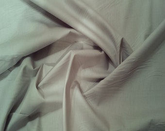 "Light Grey - 100% Cotton Poplin Dress Fabric Material - Plain Solid Colours - Metre/Half - 44"" (112cm) wide"
