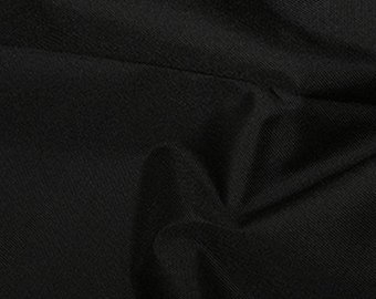"""Black - Soft Water Repellent Polyester PU Coated Fabric - Plain Solid Colours - 57"""" (145cm) wide"""