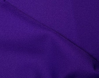 """Purple - Polyester Twill Plain Fabric 150cm (59"""") Wide Dressmaking Material"""