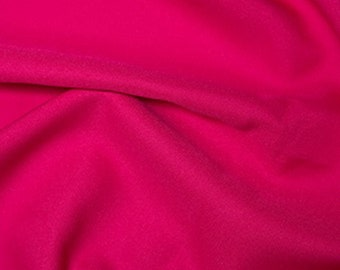 """Cerise Pink - Polyester Twill Plain Fabric 150cm (59"""") Wide Dressmaking Material"""