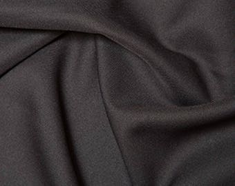 "Charcoal Grey - Polyester Twill Plain Fabric 150cm (59"") Wide Dressmaking Material"