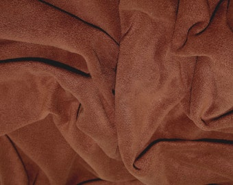 "Brown - Polar Fleece Fabric - Metre/Half - Anti Pil - 59"" (150cm) wide"