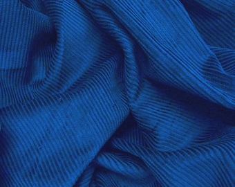 "Royal Blue - Cotton Corduroy 8 Wale Fabric Material - 144cm (56"") wide"