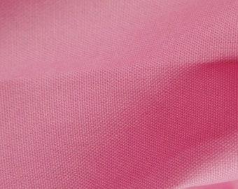 "Pink - 100% Cotton Canvas Fabric - Plain Solid Colour Material - 57"" (146cm) wide"