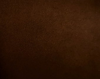 "Brown - Scuba Faux Suede Stretch Fabric 100% Polyester Material -147cm (58"") wide"