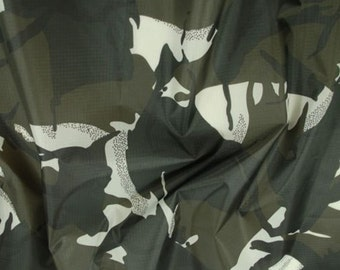 "Arctic - Camo Ripstop Army Military Camouflage Fabric Material - 59""/150cm wide- Rip-Stop"