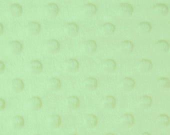 "Mint Green - Dimple Dot Popcorn Cuddle Soft Nipple Fleece Fabric - 150cm (59"") wide - per metre or half metre"