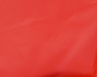 "Red - Ripstop Fabric - Plain Solid Colours - Material - 59"" (150cm) wide - Rip-Stop Polyester"