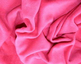 "Cerise Pink - Polar Fleece Fabric - Metre/Half - Anti Pil - 59"" (150cm) wide"