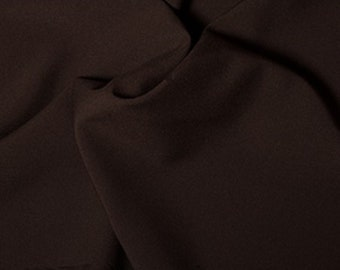 "Brown - Polyester Bi-Stretch Panama Suiting Dress Fabric - 147cm (58"") Wide"