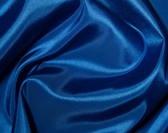 "Royal Blue Taffeta Fabric Polyester Material 145cm (57"") Wide"