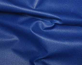 """Royal Blue - Soft Water Repellent Polyester PU Coated Fabric - Plain Solid Colours - 57"""" (145cm) wide"""
