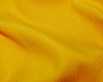 "Yellow - Needlecord Cotton Corduroy 21 Wale Fabric Material - 140cm (55"") wide"