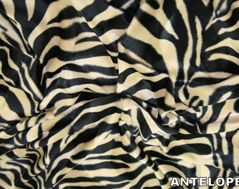 "Antelope - Animal Print Polyester Velboa Fabric - Metre/Half - Faux Fur Pony Skin 58"" (145cm) wide Velour"