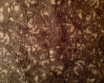 "Brown - 100% Cotton Poplin Dress Fabric Material - Marbled Effect - 44"" (112cm) wide"